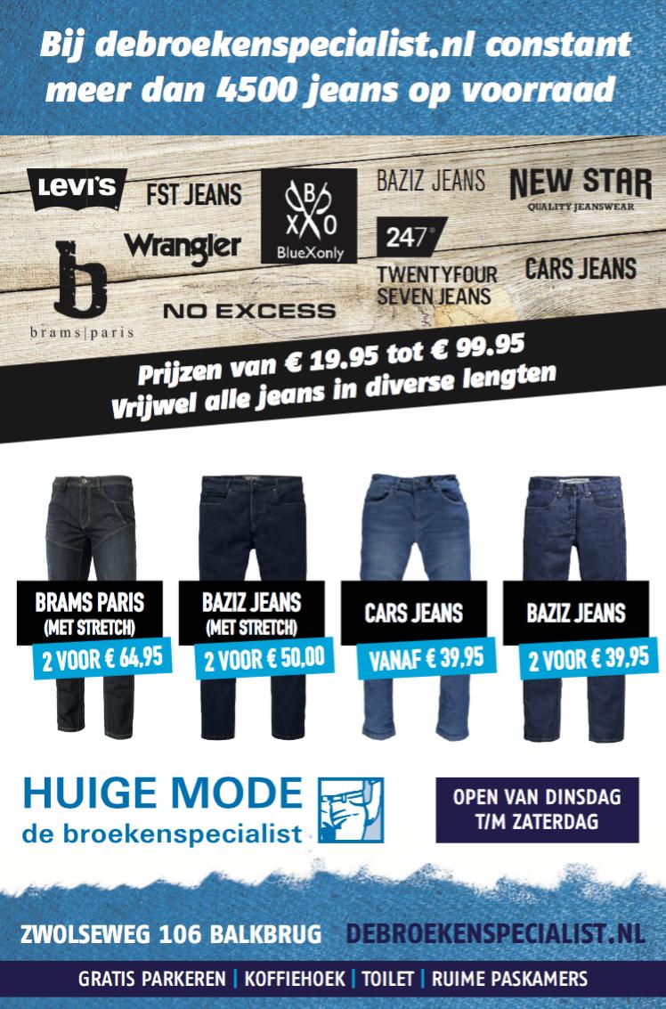 Veel merken bij Huige mode