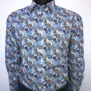 Overhemd schelp blauw