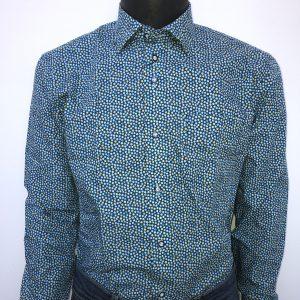 Overhemd stip groen
